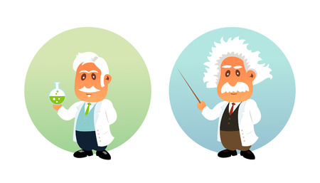 Funny illustration of Chemist and Mathematician