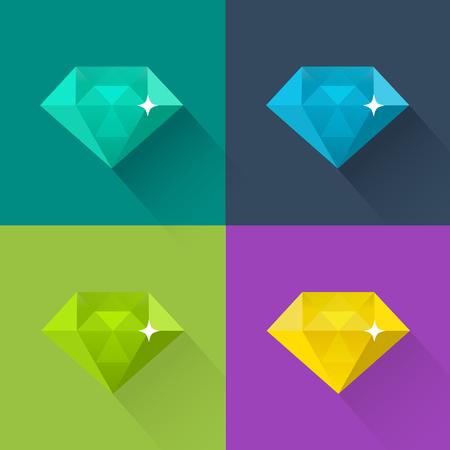 light green: Diamond vector illustration in flat design