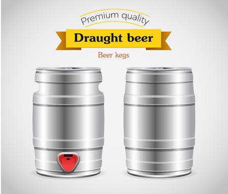 keg: Metal beer keg with grained and shadow