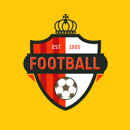 Vintage kleur voetbal kampioenschap logo