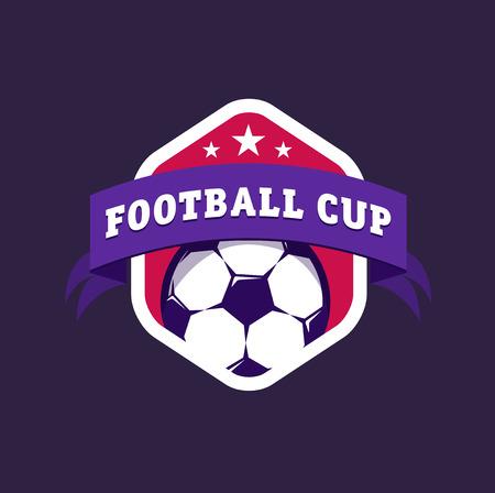 escudo: F�tbol color de la vendimia logo campeonato de f�tbol Vectores