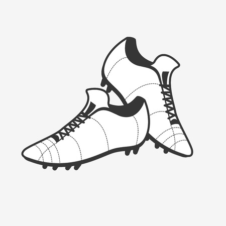 soccer cleats: Vector a pair of soccer shoes. Football Boots icon