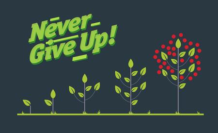infographic creatieve poster van de boom levenscyclus Stockfoto