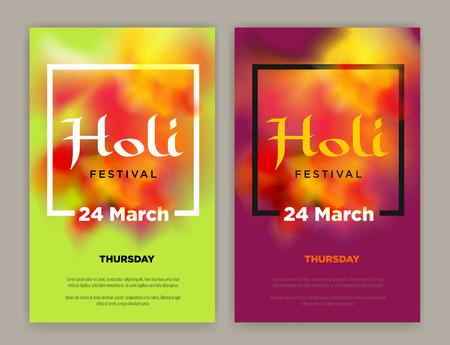 devotional: Beautiful Indian festival Happy Holi celebrations. Background for banner, card, poster, poster. Illustration