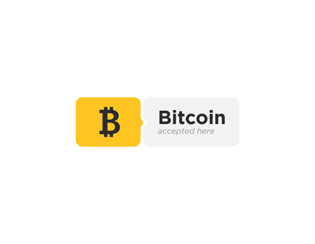 Bitcoin accepted sticker