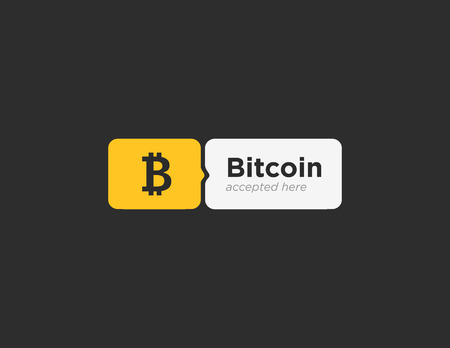accepted: Bitcoin accepted sticker