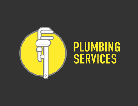 monkey wrench: Plumbing repair wrench line flat icon. concept for plumbers