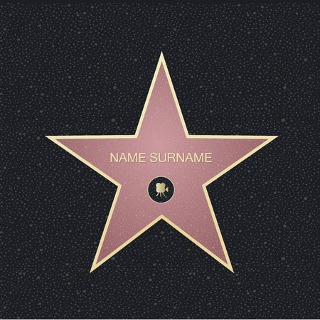 boulevard: Fame star with place for name.Top view