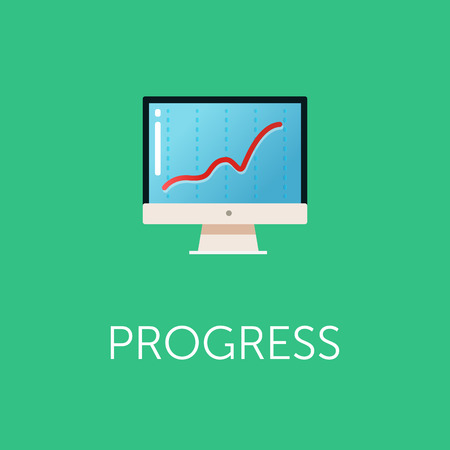 profit graph: Stock exchange rates on monitors. Profit graph for diagram. Electronic stock numbers. Profit gain. Business stock exchange. Live online screen. Flat icon