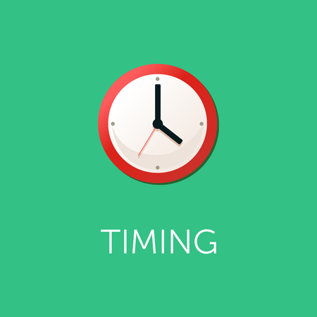 Flat design concept for time management, targeting, work planning and timing