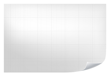 grid paper: Technical grid background. Realistic blank paper with square grid