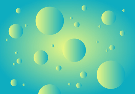Emerald abstract technology background. Gradient bubbles for web sites, user interfaces and applications. illustration