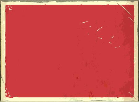 vintage panneau de métal blanc pour le texte ou les milieux grunge rétro fond noir. couleur rouge