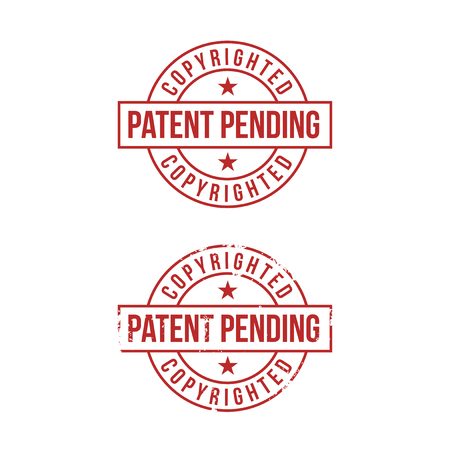 Patent pending sign on white background. Red stamp. Vector illustration. 向量圖像