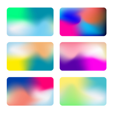 Abstract colorful vector background collection. Vivid Gradient Backgrounds. Set of vector colorful screens for smartphones, web banners.