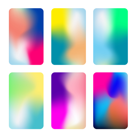 Abstract colorful vertical backgrounds. Vivid gradient backgrounds. Set of vector colorful screens for smartphones, web banners. Çizim