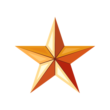 Bronze star icon. Game achievements and awards. 3d style vector. Rank illustration Çizim