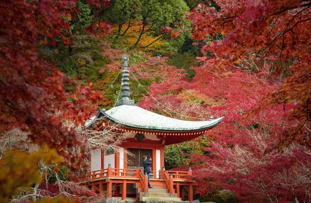 Bentendo Halll at Zen Garden of Daigoji Temple in Autumn Редакционное