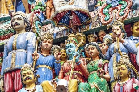 Hindu God Statue at Srimariamman Temple, Singapore