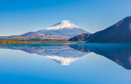 Fuji Mountain Reflection at Motosu Lake, Japan Фото со стока