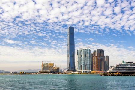 Sky 100 Observation Deck Building, Hong Kong Фото со стока