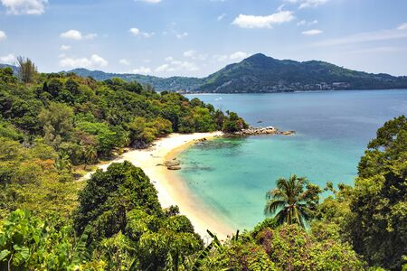Laem Singh Viewpoint in Summer , Laem Singh Beach, Phuket, Thailand