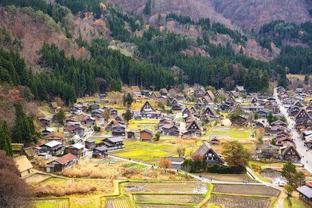 Shirakawago Village in Autumn, Japan