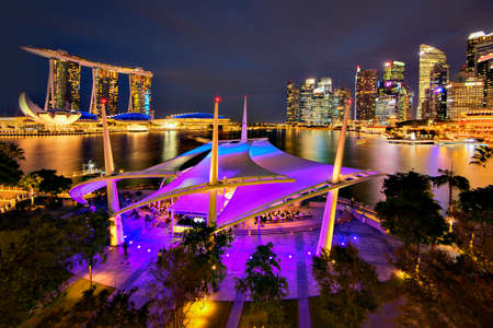 Light up at the Singapore River Esplanade With Theatres On The Bay.