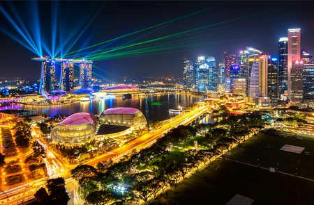 Marina Bay Light Up and Laser Show at Singapore Editorial