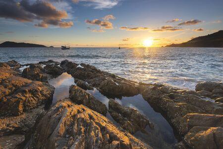 Sunset at Kalim Beach, Phuket, Thailand Foto de archivo