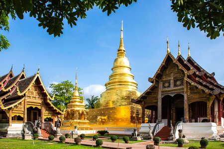 Wreckage Head of Buddha Statue at Wat U Mong Temple, Chiangmai, Thailand