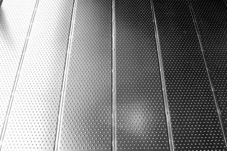 ステンレス パターン床 写真素材