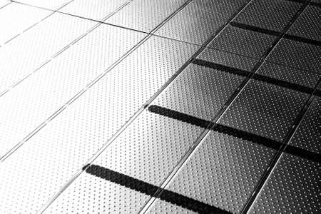 クローズ アップ ステンレス パターン床 写真素材