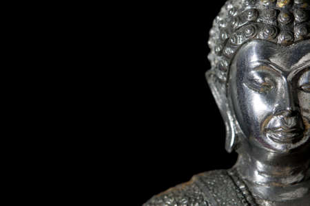 Closeup Buddha face, Bangkok Thailand Stock Photo - 16755299