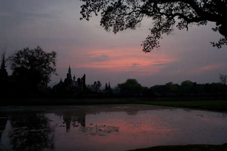 Landscape of one  temple in Ayutthaya, Thailand 写真素材