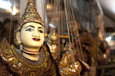 Closeup traditional puppets of northern in Thailand