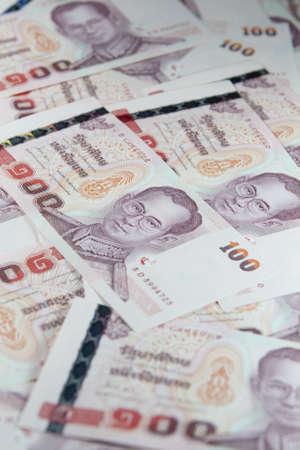 Many of one hundred Baht bills Stock Photo - 16913791