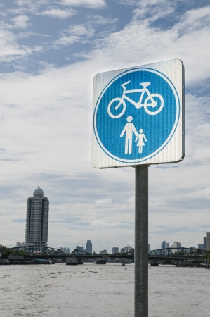 bycicle: Sign of Bycicle Stock Photo