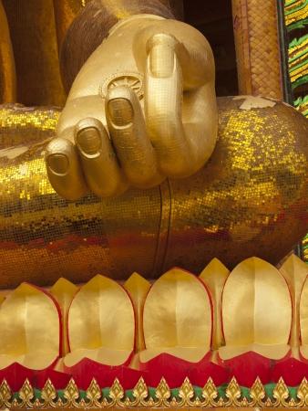 hand of a buddha god at Wat Thum Sua, Kanchanaburi Thanland photo