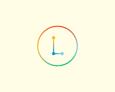 l dynamic: Abstract letter L logo design template. Colorful lined creative sign. Universal vector icon