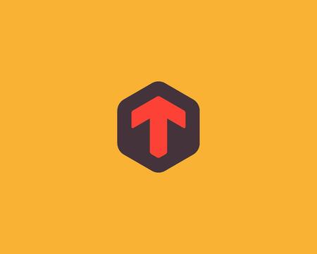 Lettre abstraite T icône modèle de conception. Signe hexagonal créatif coloré. Icône vectorielle universelle