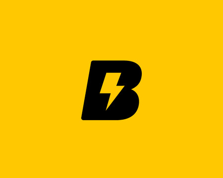 rapid: Abstract letter B icon. Dynamic unusual font. Universal fast speed fire moving quick energy icon. Flash vector icon. Rapid thunderbolt  superhero t shirt print, apparel fashion tee symbol