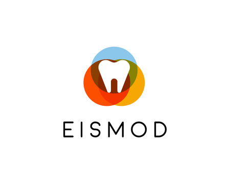 abstract tooth: Abstract tooth logo design. Dental creative symbol. Universal vector icon Illustration