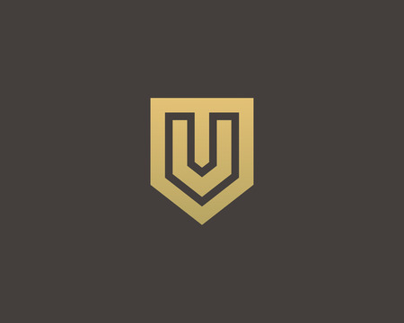 nominal: Abstract letter V shield logo design template. Premium nominal monogram business sign. Universal foundation vector icon