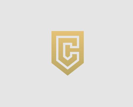 Abstract template lettre C bouclier de logo. Prime nominale signe monogramme d'affaires. fondation Universal vector icon