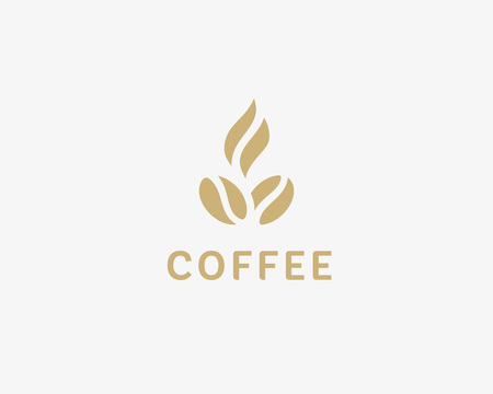 court symbol: Hot coffee shop illustration design elements vector. Stylized coffee cup icon. Cafe food court sign symbol Illustration