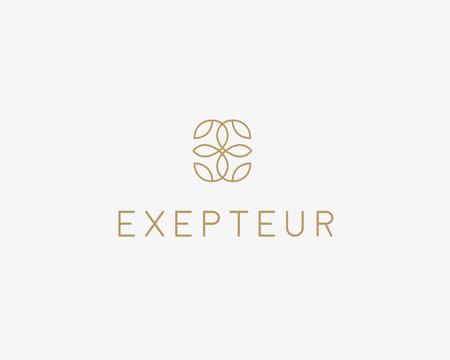 oriental medicine: Abstract leaf flower icon vector design. Universal creative premium symbol. Graceful fashion boutique vector sign
