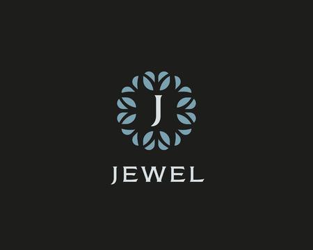 initials: Premium monogram letter J initials. Universal symbol icon vector design. Luxury abc leaf