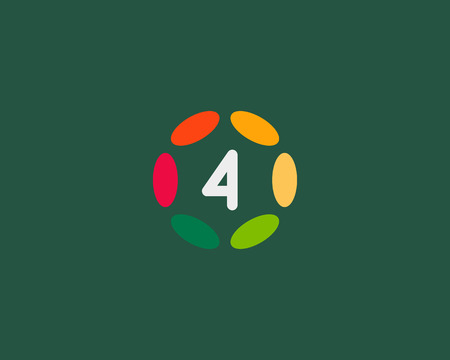 hubs: Color number 4   icon vector design.