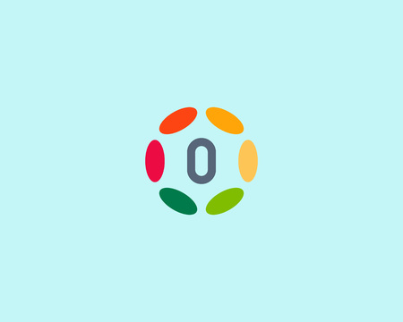 hubs: Color number 0 icon vector design.